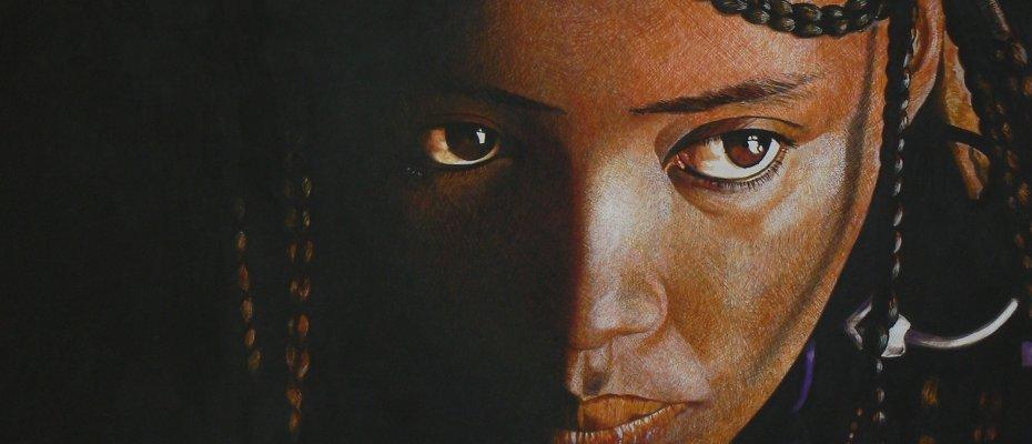 Ritratto di ragazza tuareg
