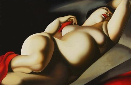 La Belle Rafaela (copia da  T. de Lempicka)